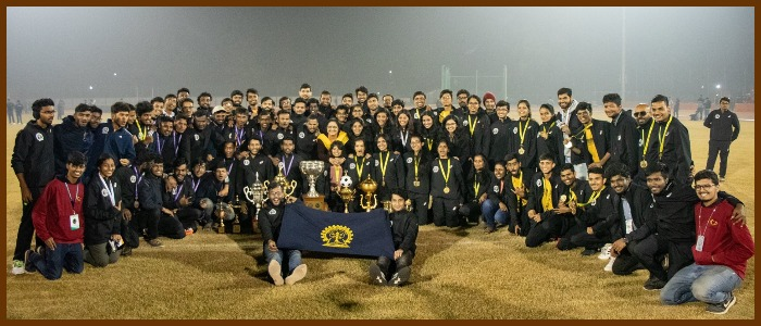 And the winner of the 54th Inter IIT Sports Meet is….