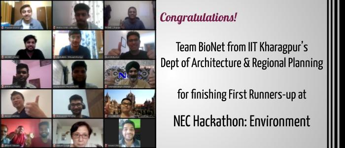 Green Innovation by IITKGP Students Stands Second at NEC Hackathon