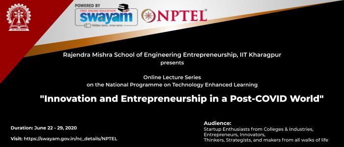 IIT Kharagpur's Online Course on Innovation & Entrepreneurship