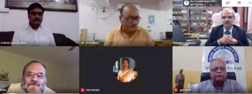 Director speaks at IIT BHU NEP Webinar