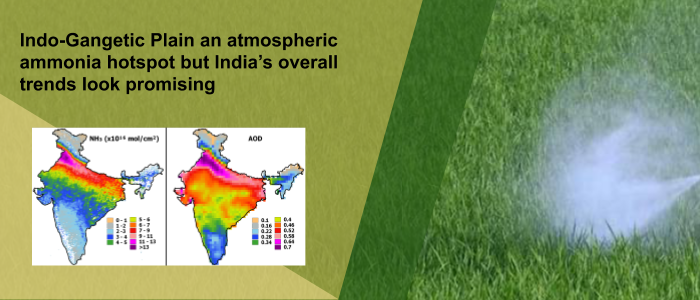 Ammonia Hotspot Trends in India – First-time observations from India