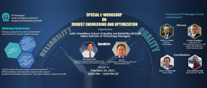 Web Workshop by Subir Chowdhury School of Quality and Reliability