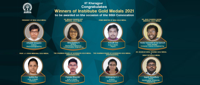 IIT Kharagpur Congratulates Winners of Institute Medals at the 66th Convocation