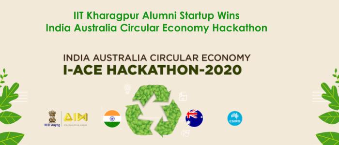 Alumni Startup Wins India Australia Circular Economy Hackathon