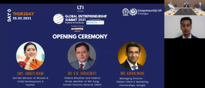 E-Cell Celebrates Festival of Fortitude with Global Entrepreneurship Summit 2021