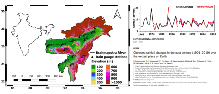Climate Change Signals from North-Eastern India, the Wettest Place on Earth