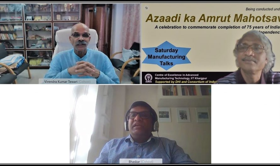 """The 14th Webinar of """"Saturday Manufacturing Talk"""" was conducted @IIT Kharagpur"""